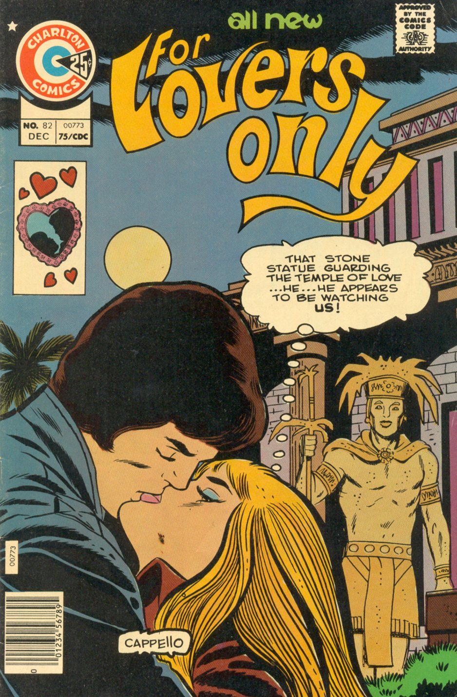 """Xtachoa's Bride"""" from  For Lovers Only #82 (December 1975) with art by Charles Nicholas and Vincent Alascia"""