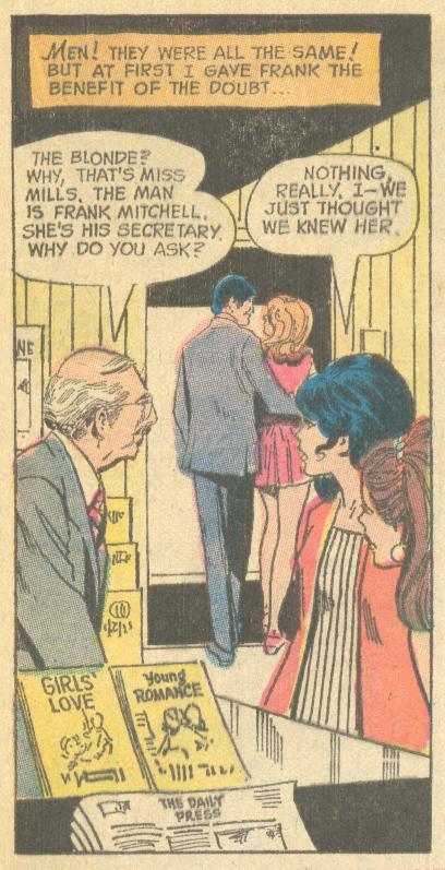 """Dumb Bunny""  Girls' Love Stories  #164 (December 1971)"
