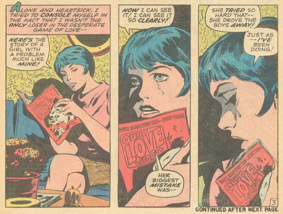 """""""How Do You Find a Boy of Your Own?""""  My Love  #6 (July 1970) Pencils by Gene Colan, Inks by Sal Buscema"""
