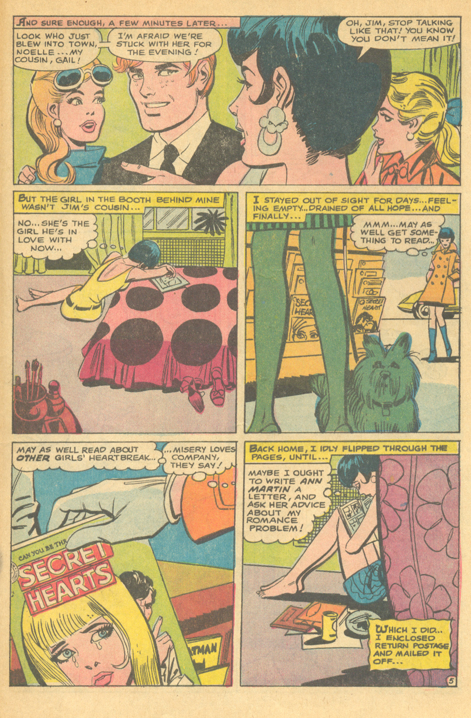 """""""The Truth About Men"""" Falling in Love #104 (January 1969) Pencils by Ric Estrada"""