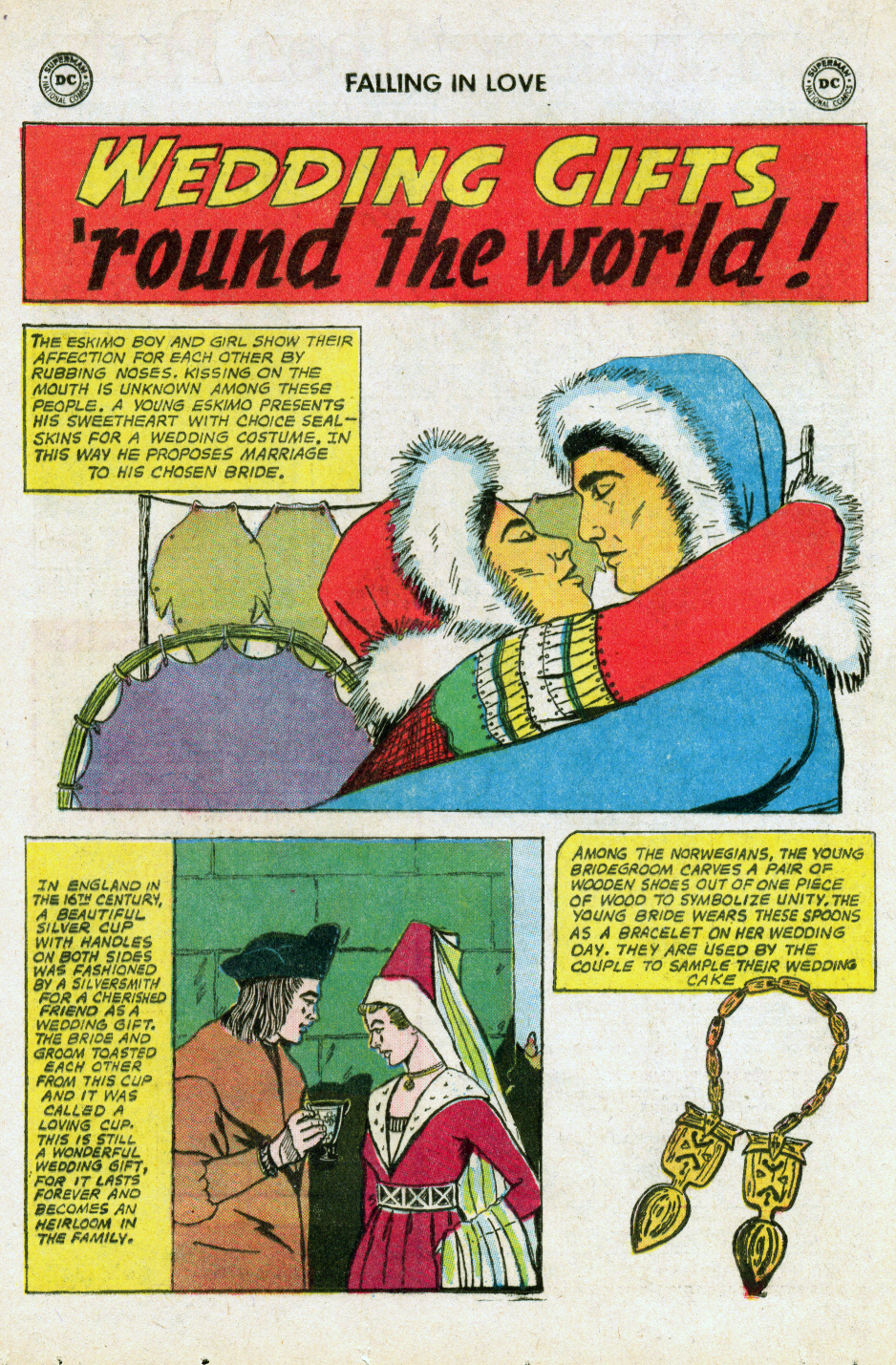 """""""Wedding Gifts 'round the World!""""  Falling in Love  #74 (April 1965)"""
