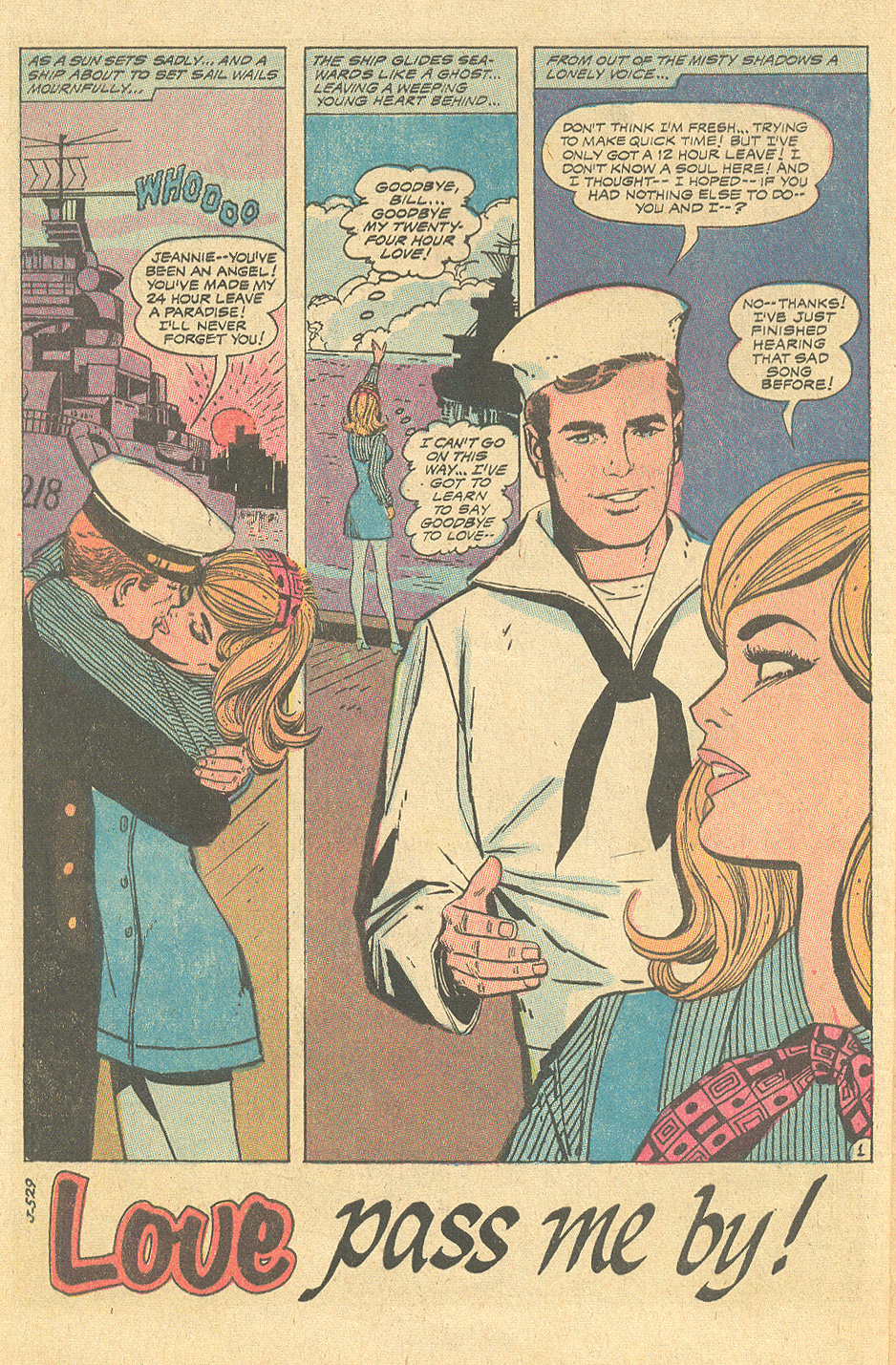 Young Romance  #166 (June/July 1970) with art by Win Mortimer and Vince Colletta