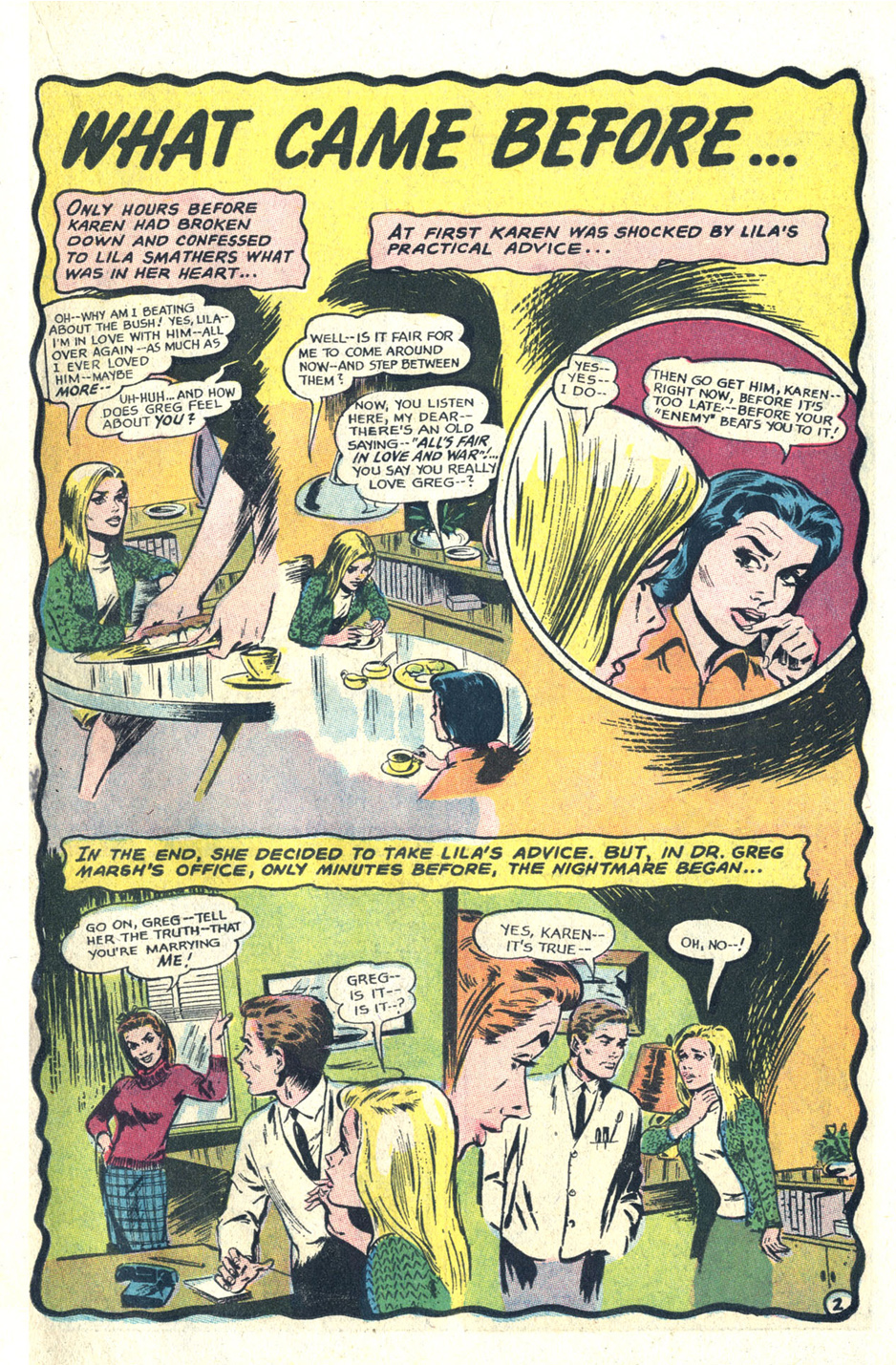 Reach for Happiness comic book romance soap opera DC Comics