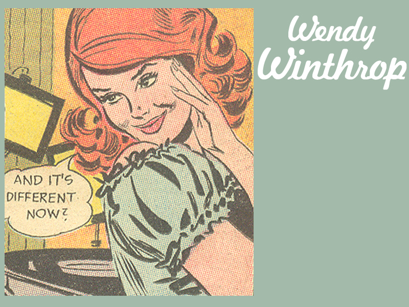 "Wendy Winthrop from ""Wendy Winthrop, Television Model,""  Girls' Romances  #99 and #100"