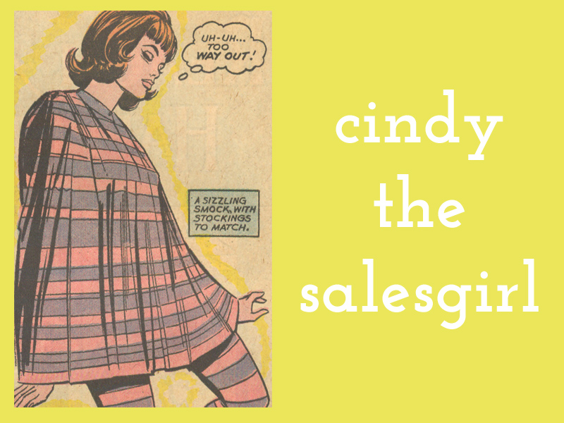 Cindy the Salesgirl  from issues of  Falling in Love ,  Girls' Love Stories ,    Girls' Romances , and  Secret Hearts
