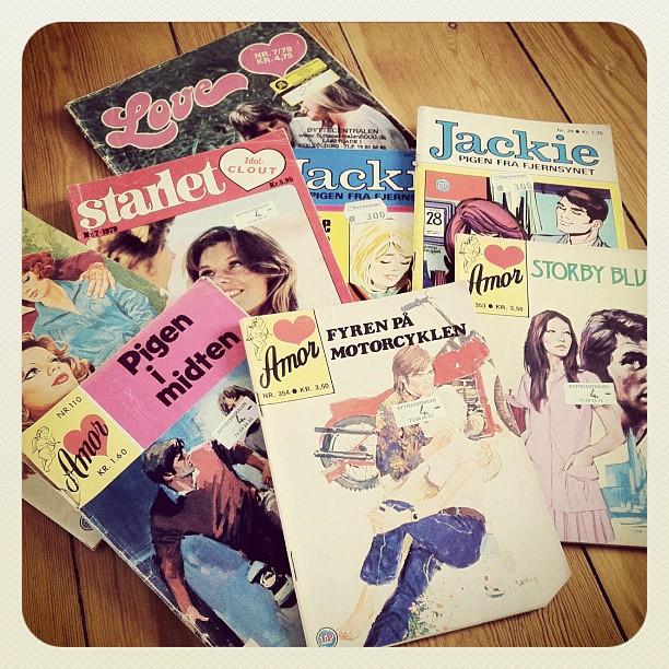 Vintage Danish Romance Comic Books Amor Jackie Starlet Lovers