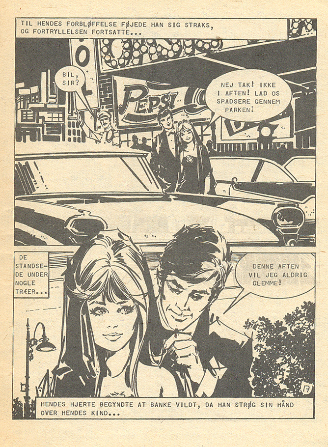 """  Pigen   i   Midten  "" (""The Girl in the Middle"") from  Amor  #110 (1969)"