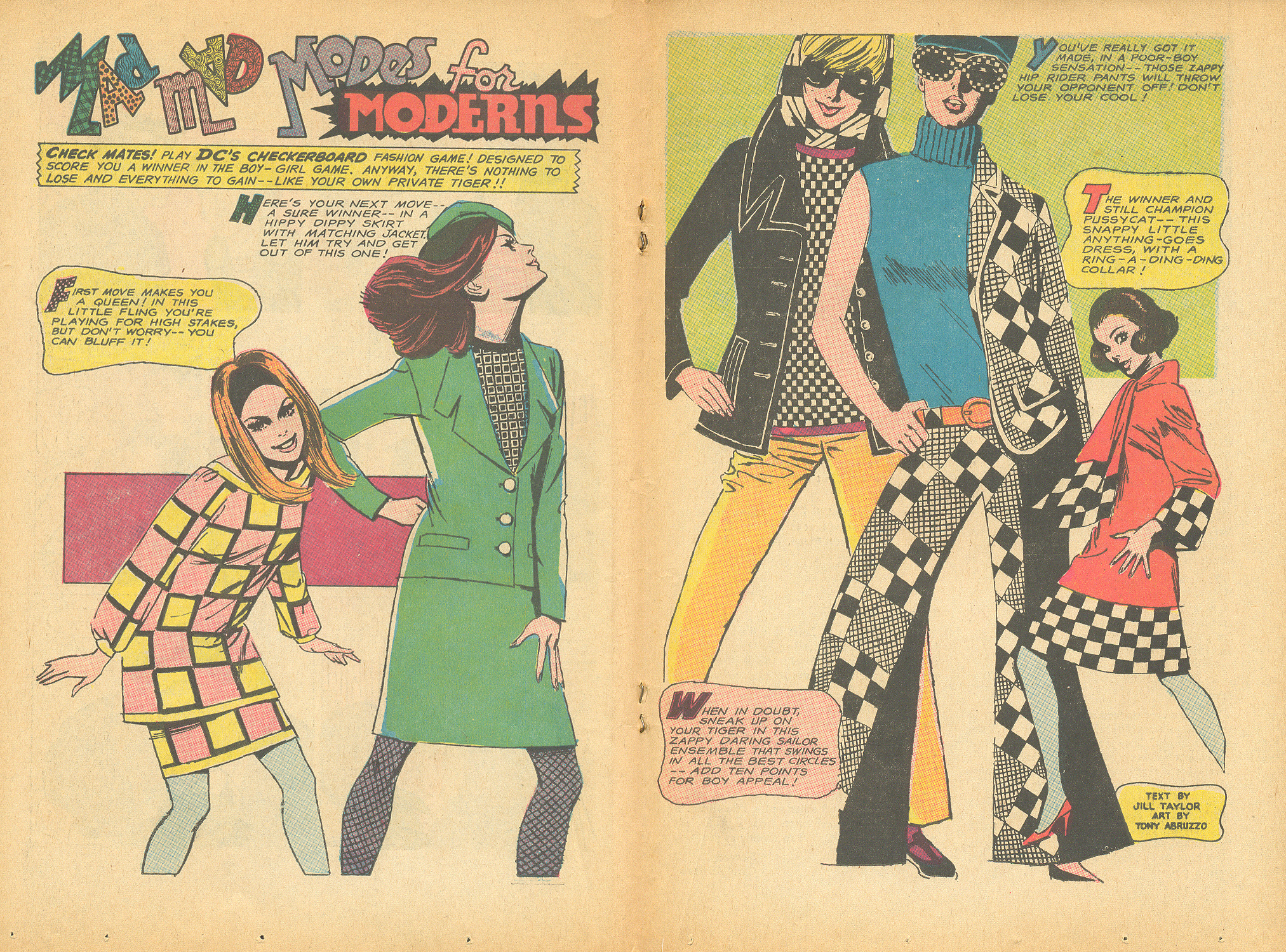 """""""Mad Mad Modes for Moderns""""  Falling in Love  #88 (January 1967)"""