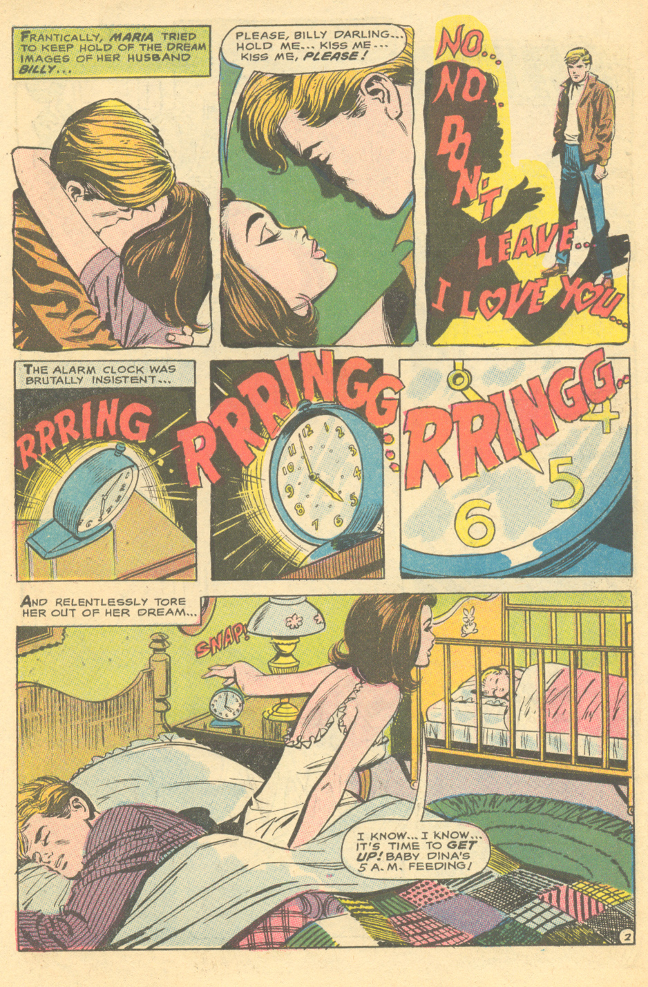 """Enter Marriage... Exit Romance!"" from Young Romance #159 (April/May 1969) (with art that appears to be by Win Mortimer and Vince Colletta"