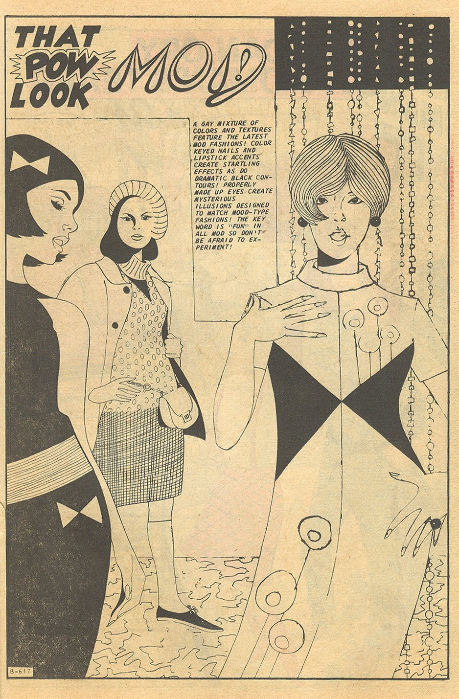 """""""That Pow Look -Mod!""""  Teen Confessions  #48 (January 1968)"""