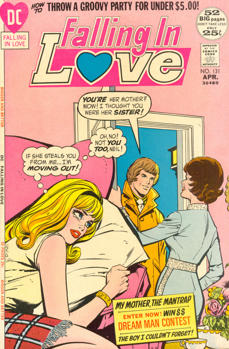 """My Mother, the Mantrap"" from Falling in Love #131 (April 1972)"