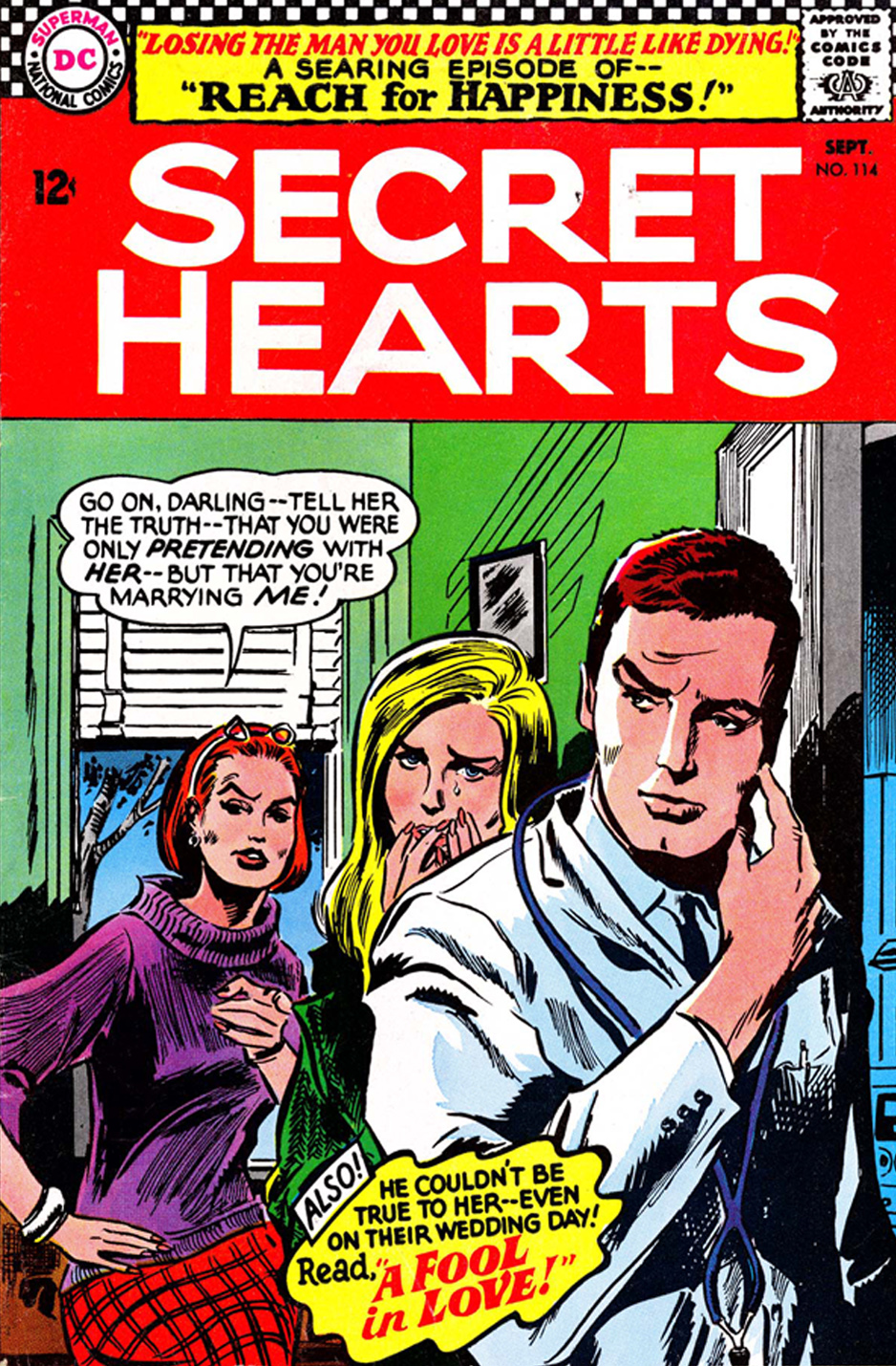 Secret Hearts Reach for Happiness Romance comic book serial soap opera