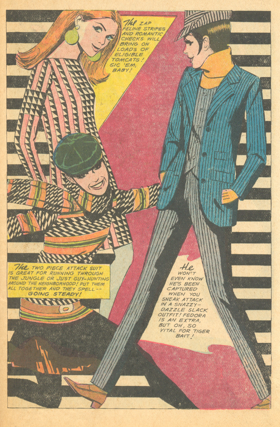 """""""Mad Mad Modes for Moderns""""  Falling in Love  #90 (April 1967)  Illustrated by Tony Abruzzo"""