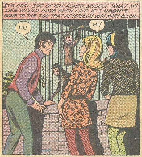 """I'll Never Love Again!""  Girls' Romances  #146 (January 1970) Pencils: John Rosenberger"