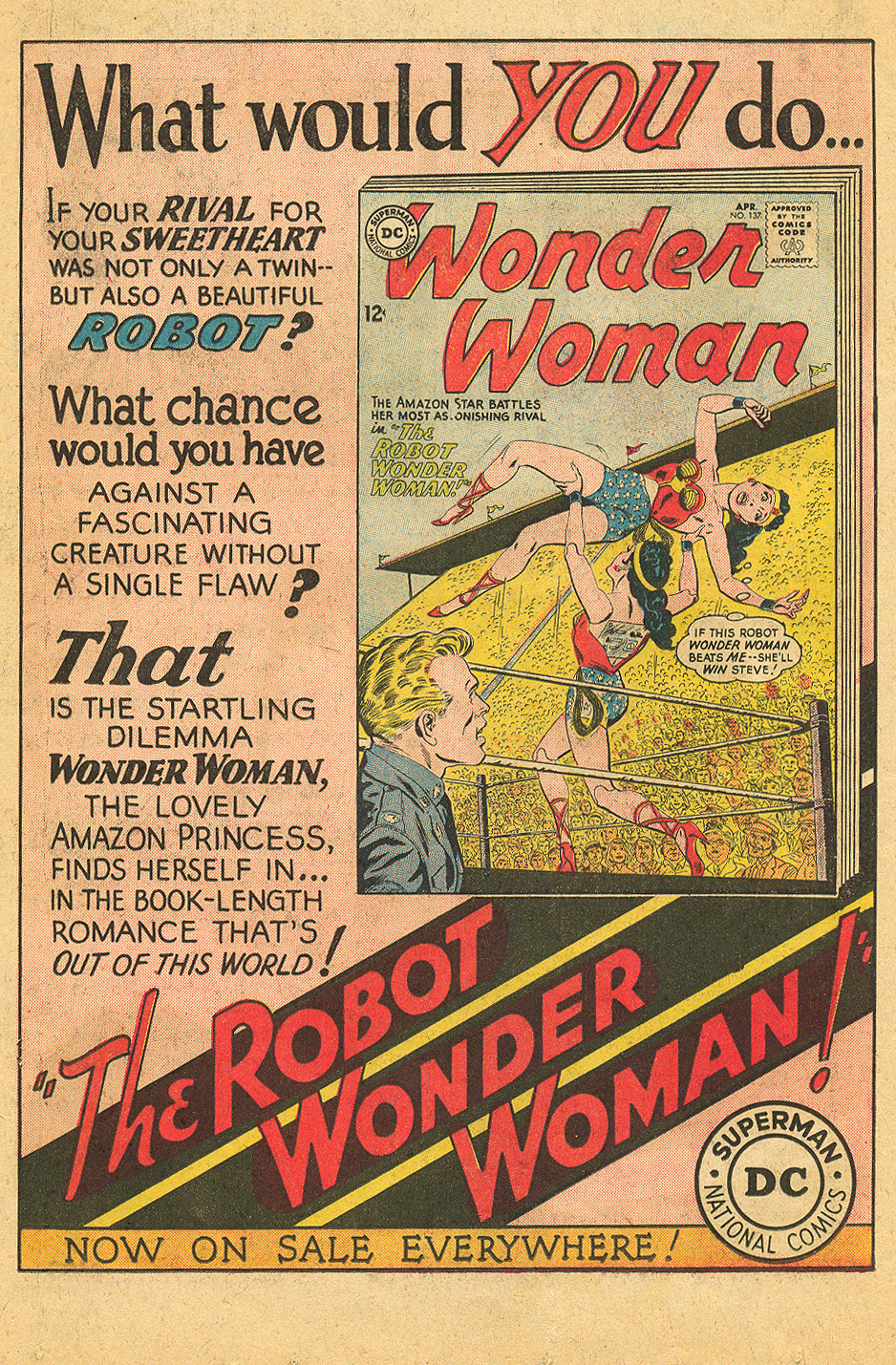 Wonder Woman Ad from  Girls' Love Stories  #94 (April 1963)