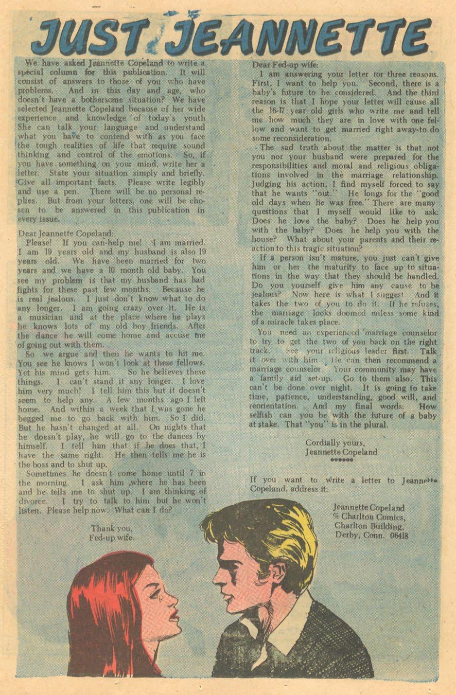 romance comic book advice column