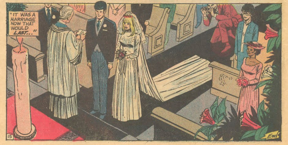 "The story, ""Doctor, Tell Me Why!"" demonstrates that floppy hats were a very fashionable addition to any bridesmaid's ensemble in the 1970s -- so why not today?  Heart Throbs  #142 (June 1972)"