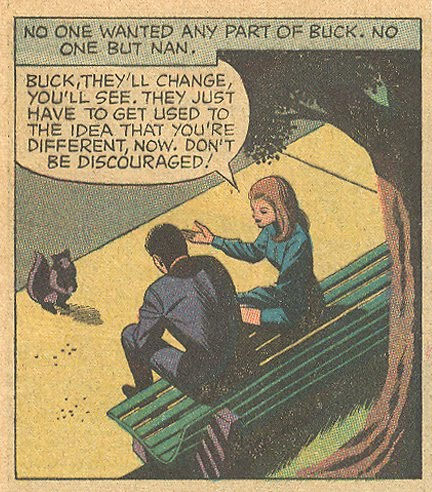 """Squirrel or very tiny Ewok? You decide. """"Just No Good""""  Young Romance  #166 (June/July 1970)"""