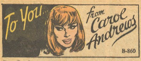 """Tellin' it the way it is: """"To You... From Carol Andrews"""" Falling in Love #122 (April 1971)"""