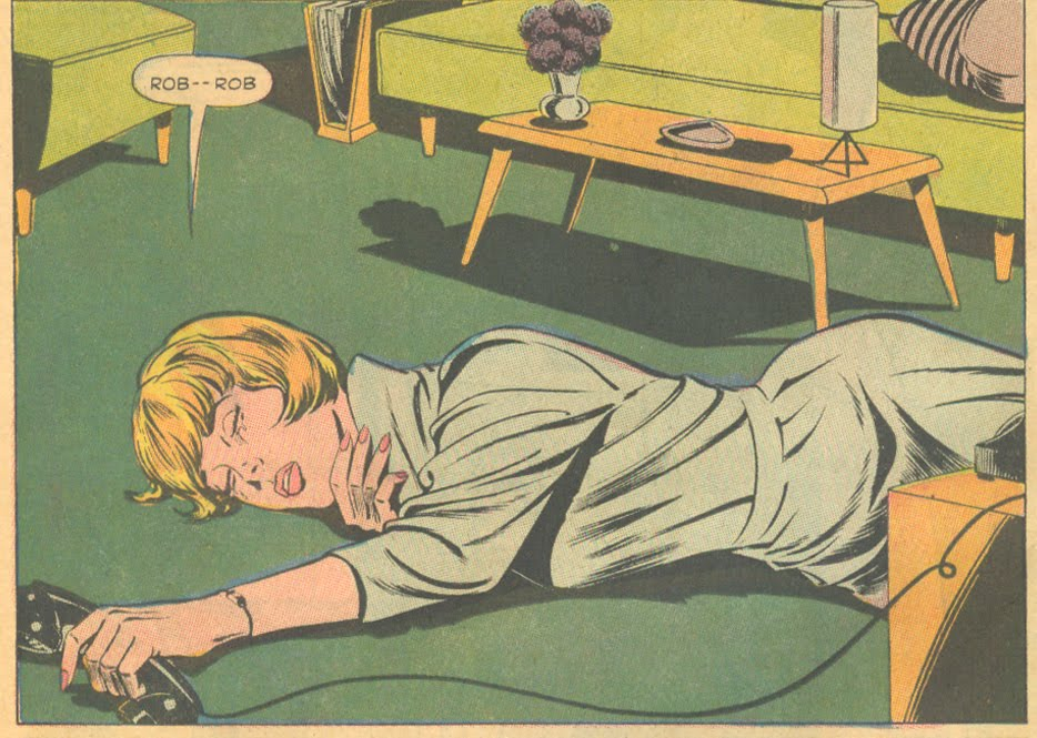 """Nice coffee table! From """"The Love That Was Mine""""  Young Romance  #151 (December/January 1967)"""