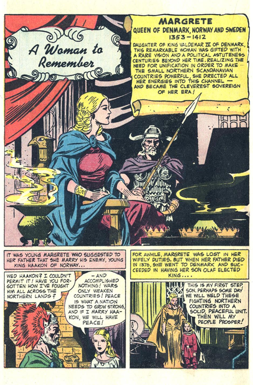 A Woman to Remember comic book filler Wonder Woman comics DC
