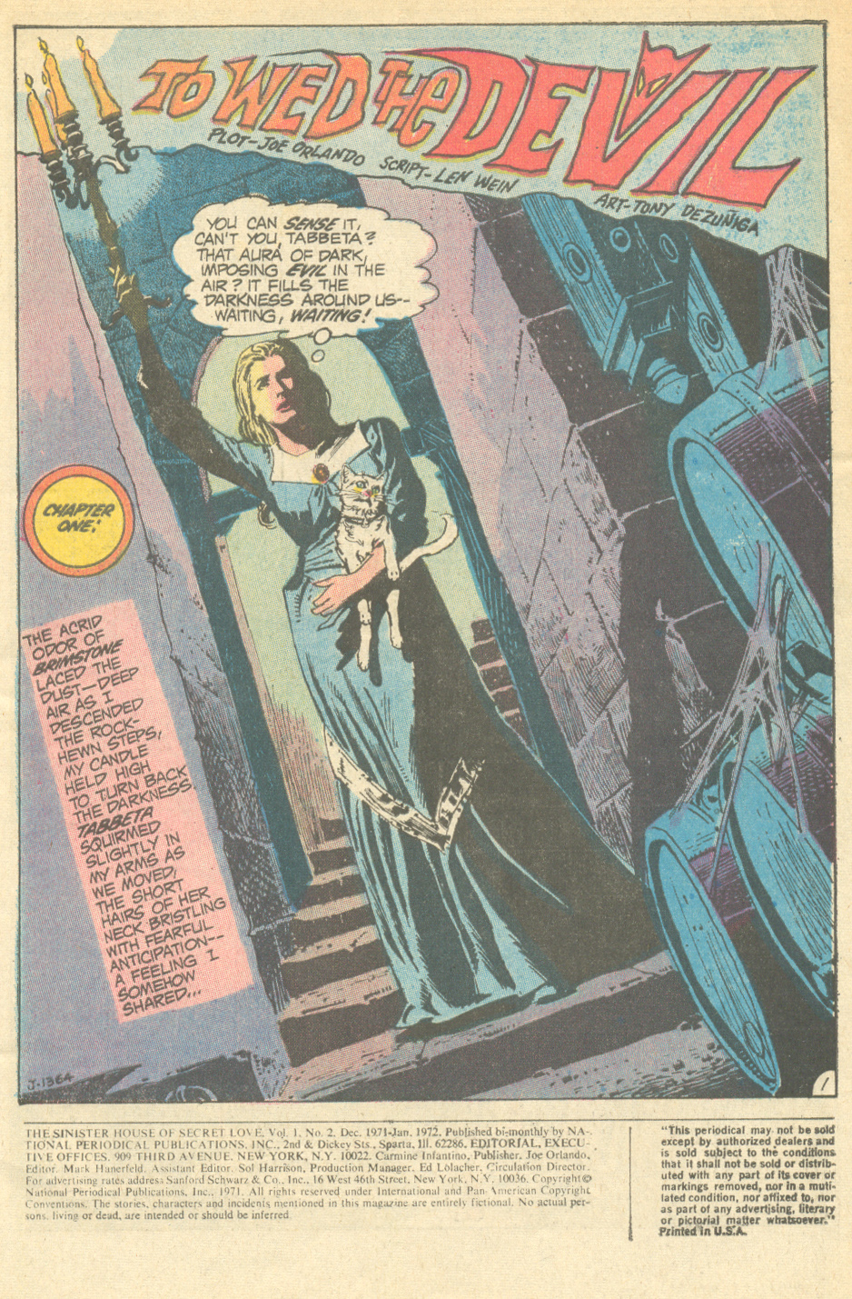 DC Comics The Sinister House of Secret Love Gothic romance comic book 1970s