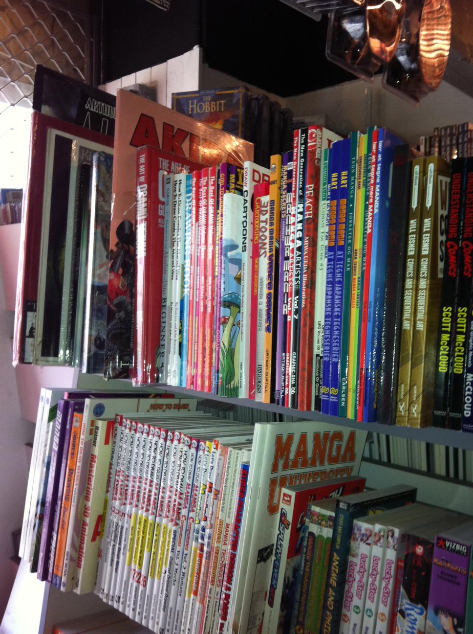 Danish comic book store in Aarhus