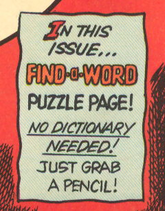 Charlton comics puzzle pages