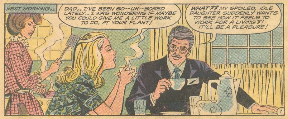 Too Spoiled for Love romance comic book story DC Comics