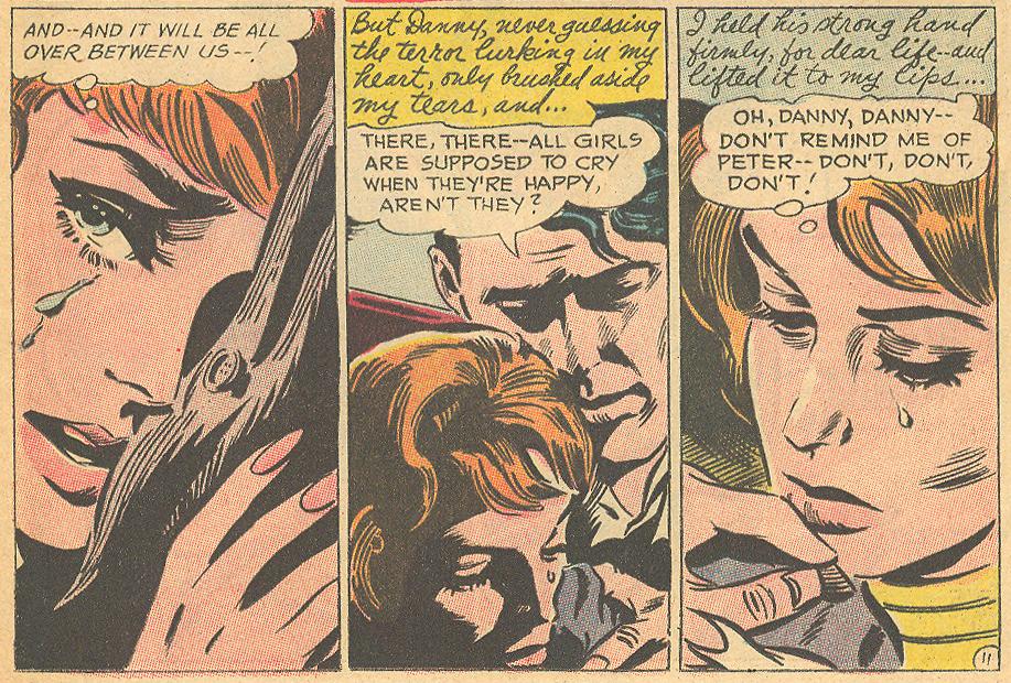 """""""Diary of a Broken Heart""""  Young Romance  #144 (October/November 1966)"""