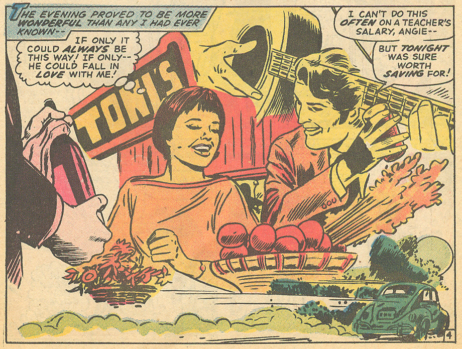 """""""Born to be Unloved?""""  My Love  #8 (November 1970) Inks by Dick Ayers"""