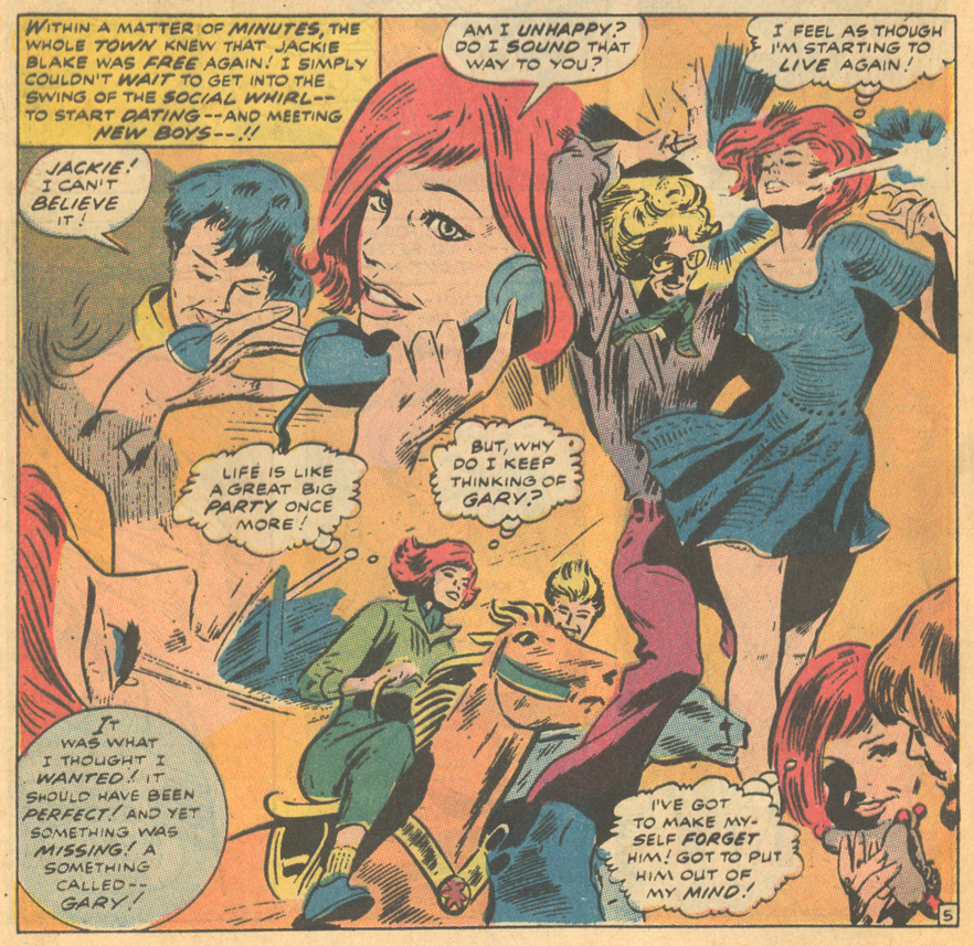 """""""I Loved You Once -- Remember?""""  My Love  #9 (January 1971) Inks by Dick Ayers"""