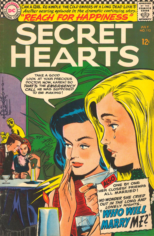 Secret Hearts romance comic book soap opera love story drama Peyton Place
