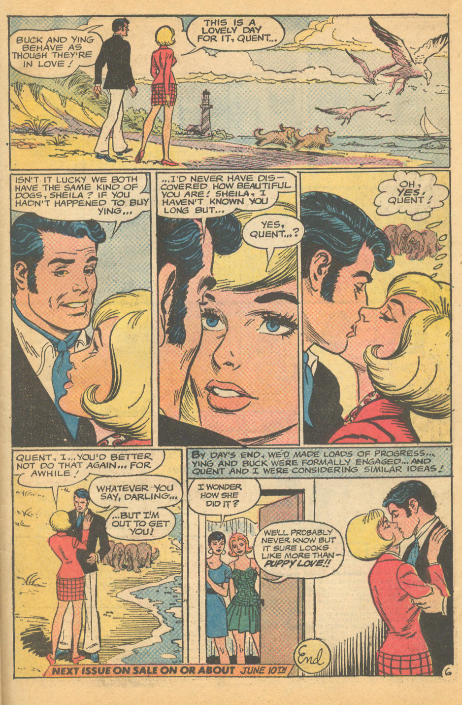 Falling in Love romance comic books dogs in comics