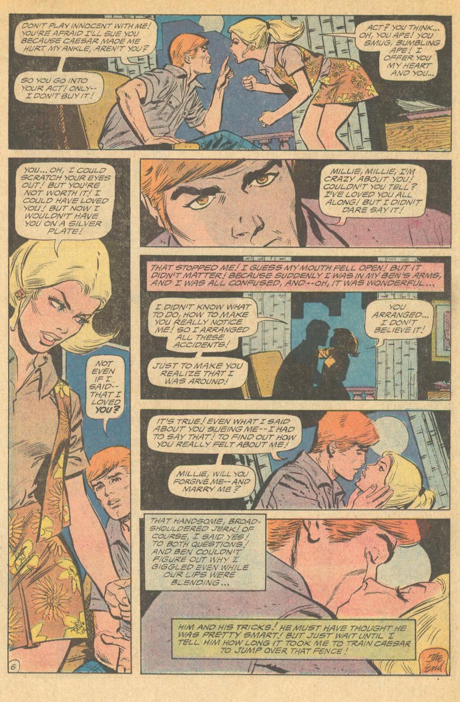 """Love Thy Neighbor"" from Girls' Love Stories #157 (February 1971) Puppy Love story Art Saaf"