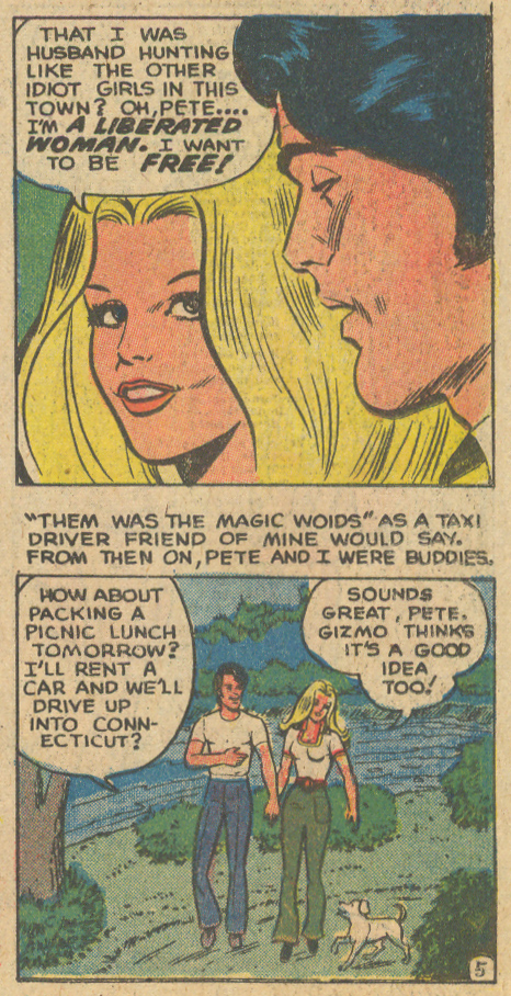 """""""Another Way to a Man's Heart"""" from For Lovers Only #82 (December 1975) romance comic book charlton"""