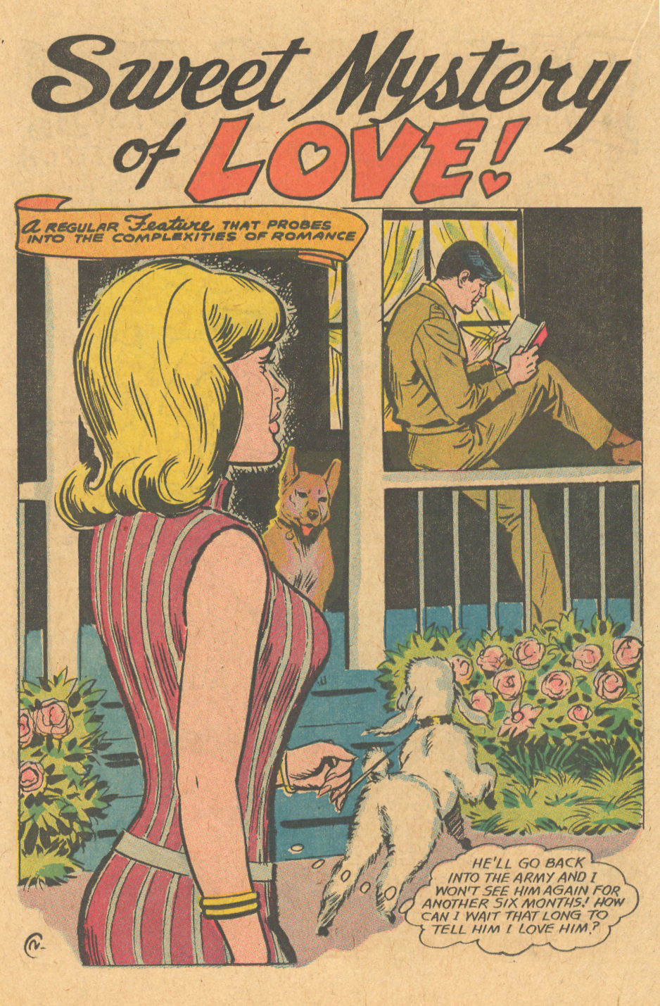 Puppy love romance comic book Nick Cardy illustrated romance story