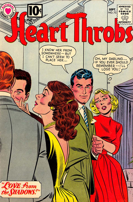 Heart Throbs romance comic book #73 DC comics Cover