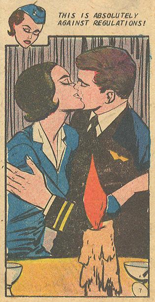 Stewardess Pan Am vintage comic book romance