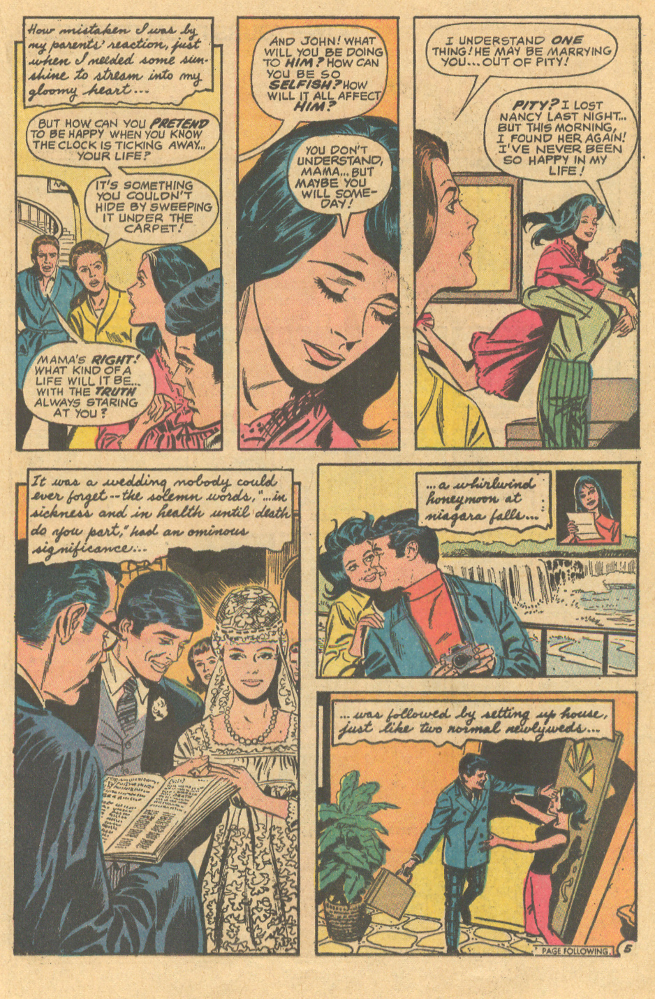 Love Letters romance comic books depiction of Mothers in comic books