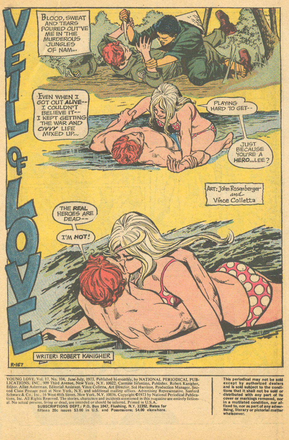 Romance comic book issue with nun on the cover Veil of Love DC comics
