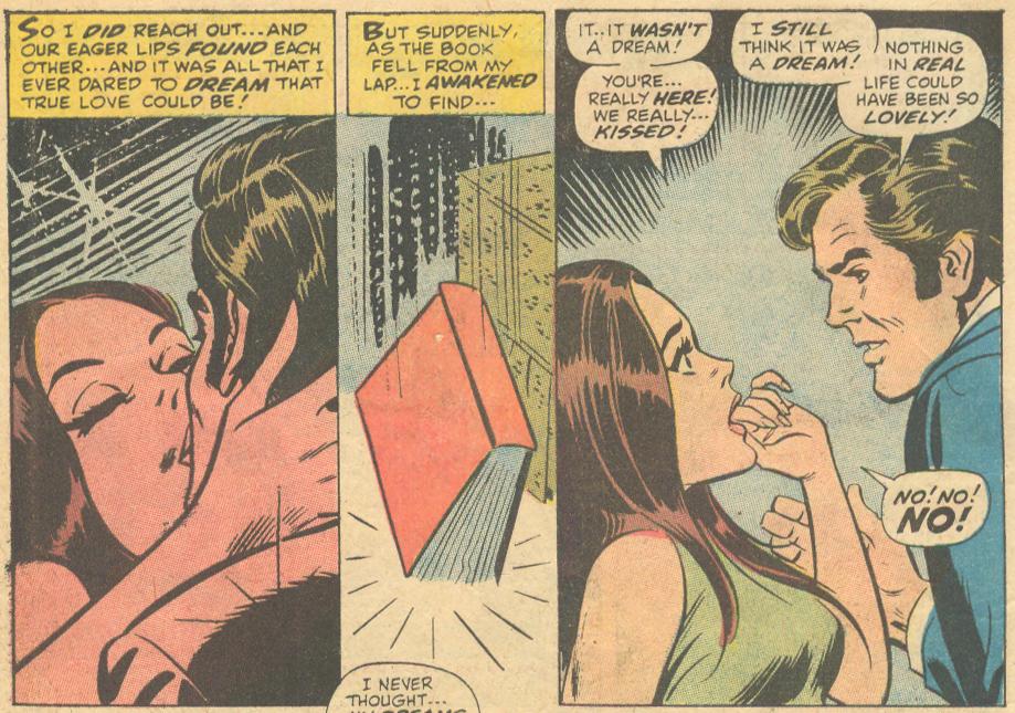 John Romita, Sr. romance comic book Marvel floating heads in comics