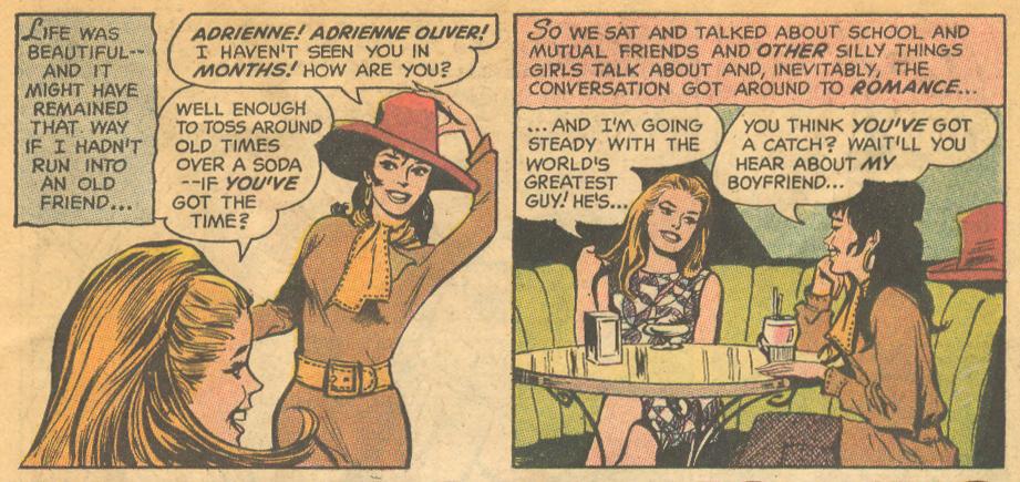 Romance comic books dialogue