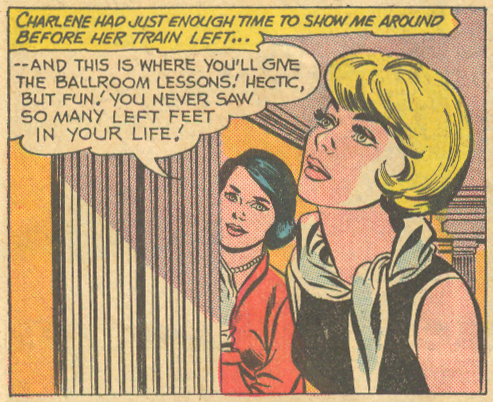 """Love Against Time""  Young Love  #54 (March/April 1966) Pencils: Tony Abruzzo, Inks: Bernard Sachs"