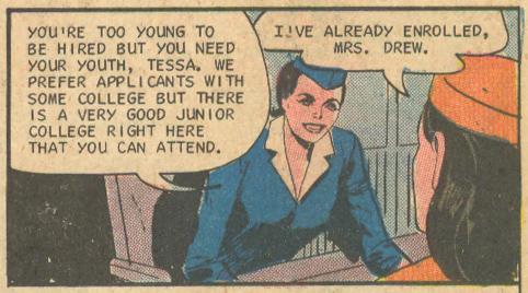 """Rendevous on Cloud 9"" [sic]  Career Girl Romances  #47 (October 1968)"
