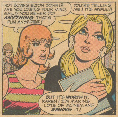 """The Price is Right!""  Young Romance  #182 (May 1972) Script: Irene Vartanoff, Pencils and Inks: Jack Abel"