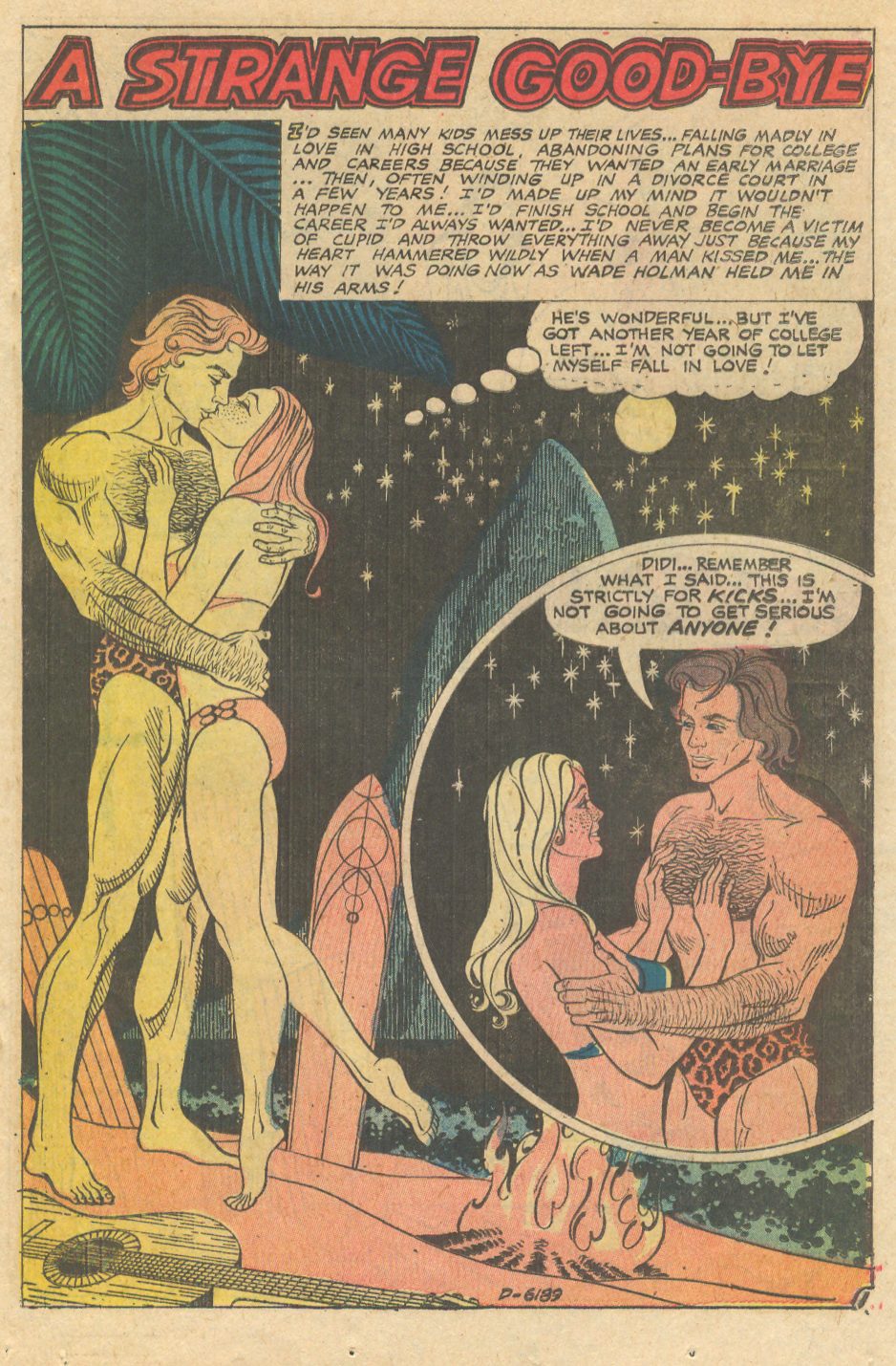 """Enrique Nieto in """"A Strange Good-Bye"""" from Love and Romance #20 (January 1975)."""