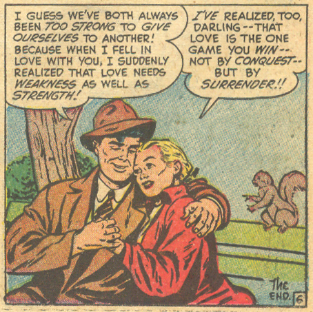"""""""Too Good at Love!""""  Love Problems and Advice Illustrated  #15 (May 1952)"""