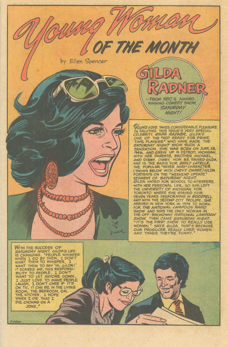Scripted by Ellen Spencer Pencils: Joe Orlando, Inks: Vince Colletta
