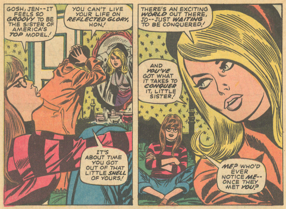 """How? How Can He Love Me?"" from Our Love Story #22 (April 1973)* (script by Stan Lee, pencils by John Buscema and inks by Frank Giacoia"